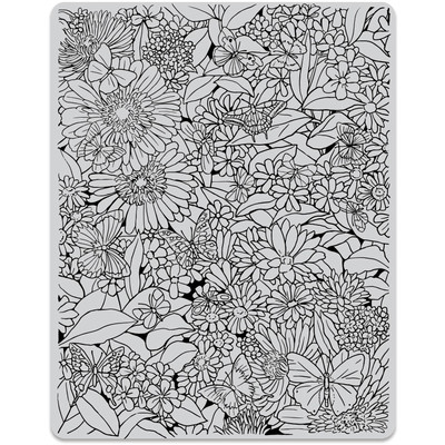Cling Stamp, Butterfly Garden Background