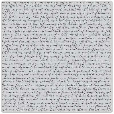 Bold Prints Cling Stamp, Script