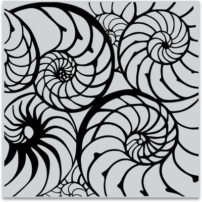 Bold Prints Cling Stamp, Nautilus Pattern