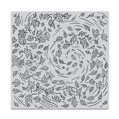 Bold Prints Cling Stamp, Leaves in the Wind