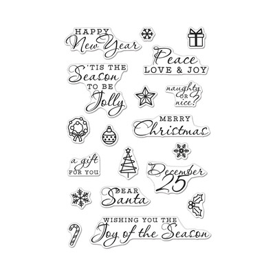 Clear Stamp, Holiday Icons and Messages