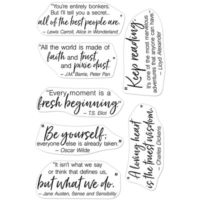 Clear Stamp, Literary Quotes