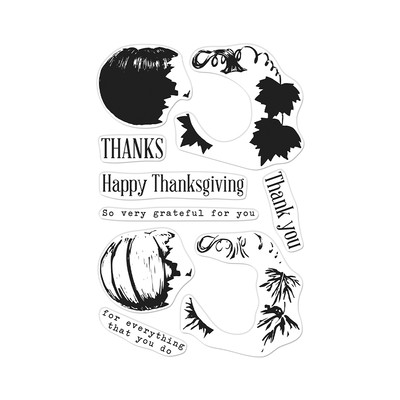 Clear Stamp, Color Layering Pumpkin