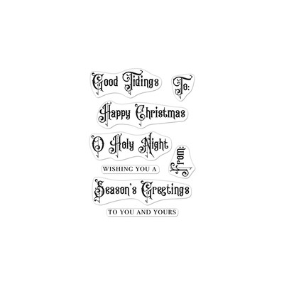 Clear Stamp, Victorian Christmas Messages