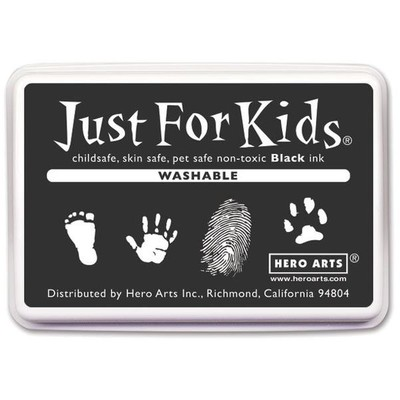 Just For Kids Washable Ink Pad, Black