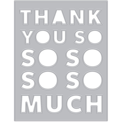 Die, Thank You Message Cover Plate (F)
