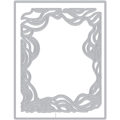 Die, Fancy - Swirling Tide Border with Frame (F)