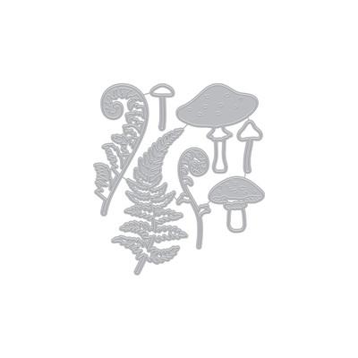 Die, Fancy - Mushroom and Ferns (D)