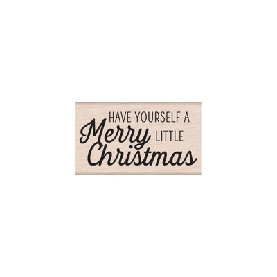 Wood Stamp, Merry Little Christmas