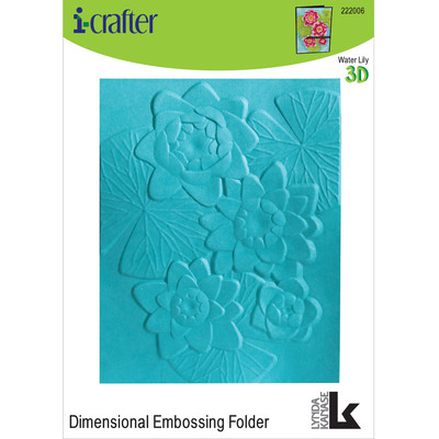 3-D Dimensional Embossing Folder, Water Lily