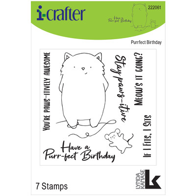 Clear Stamp, Purr-fect Birthday