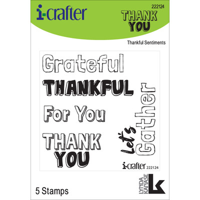 Clear Stamp, Thankful Sentiments