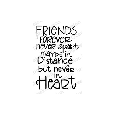 Cling Stamp, Friends Forever