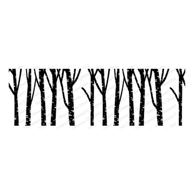 Cling Stamp, Birch Trees