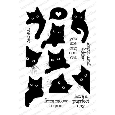 Clear Stamp, Black Cat Love