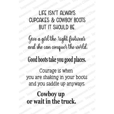 Clear Stamp, Cowboy Boot Sayings 2