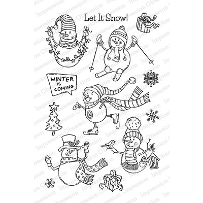 Clear Stamp, Skiing Snowmen