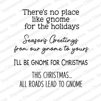 Clear Stamp, Gnome Christmas Sayings