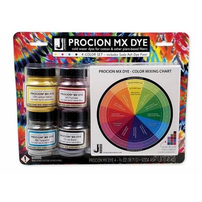 Procion MX Dye Set, 4 Color w/Soda Ash