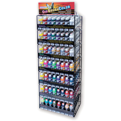Airbrush Color Display, 1/2 Stock