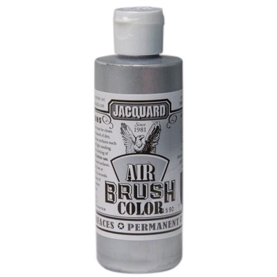 Airbrush Color, 4oz. - Metallic Silver