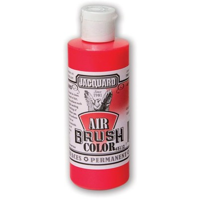 Airbrush Color, 4oz. - Fluorescent Red