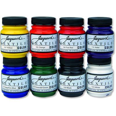Textile Color Paint Set, Primary & Secondary (8 Color)