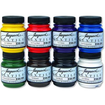 Textile Color Paint Set, Primary (8 Color)