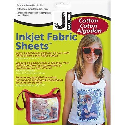 8.5X11 Inkjet Fabric Sheets, Cotton (10 Pack)