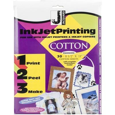 8.5X11 Inkjet Fabric Sheets, Cotton (30 Pack)