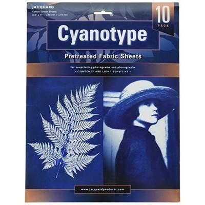 "Cyanotype Fabric Sheets, 8.5""x11"" (10 Pack)"