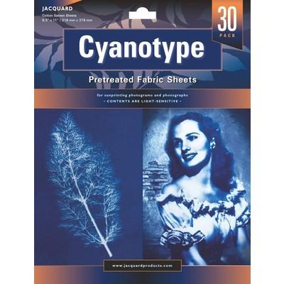 "Cyanotype Fabric Sheets, 8.5""x11"" (30 Pack)"