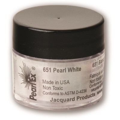 Pearl Ex Powdered Pigments 3g #651 Pearl White