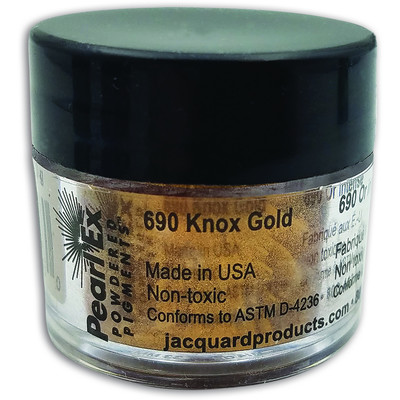 Pearl Ex Powdered Pigments 3g #690 Knox Gold