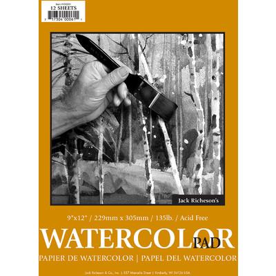 """Watercolor Pad 135# Cold Press, 9"""" x 12"""""""