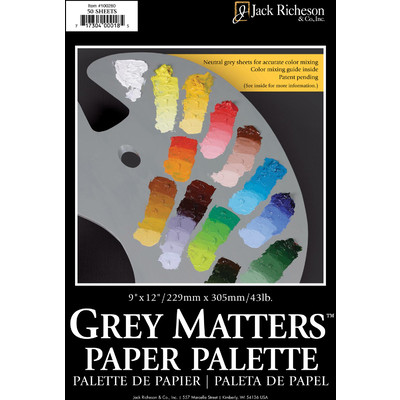 "Grey Matters Paper Palette, 9"" x 12"" (50 Sheets)"
