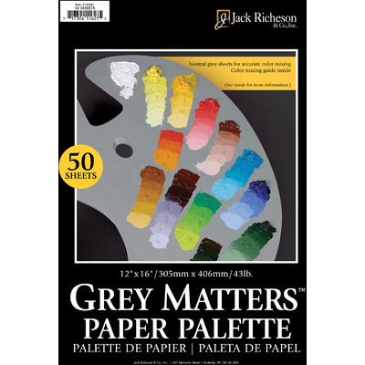 "Grey Matters Paper Palette, 12"" x 16"" (50 Sheets)"