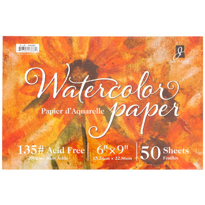 "Watercolor Paper 135# Cold Press, 6"" x  9"" (50 Sheets)"