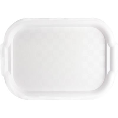 "White Plastic Tray, 10"" x 12.5"" x 0.5"""