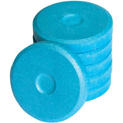 Tempera Cakes, Mini - Metallic Blue (6 Pack)