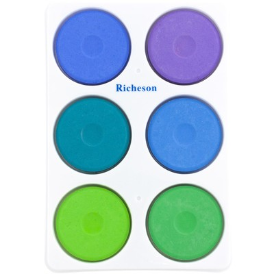 Tempera Cake Set, Large - Cool in Plastic Tray (6 Pack)
