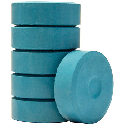 Tempera Cakes, Large - Turquoise (6 Pack)
