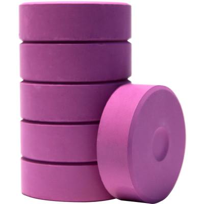 Tempera Cakes, Large - Purple (6 Pack)