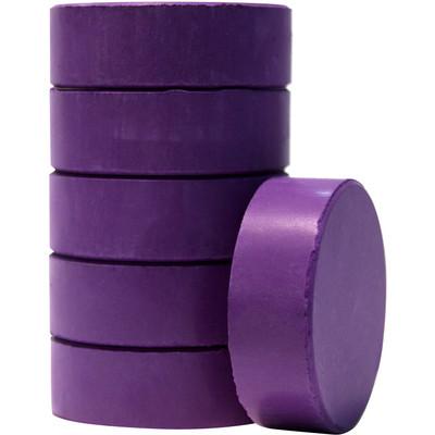 Tempera Cakes, Large - Violet (6 Pack)