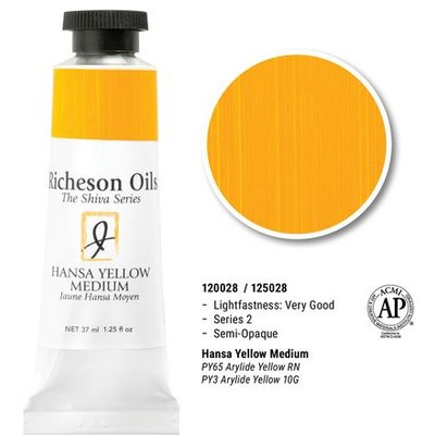 Richeson Oils, Hansa Yellow Medium (1.25oz)