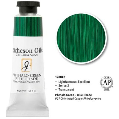 Richeson Oils, Pthalo Green-Blue Shade (1.25oz)