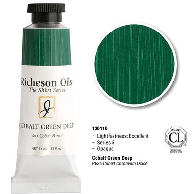 Richeson Oils, Cobalt Green Deep (1.25oz)