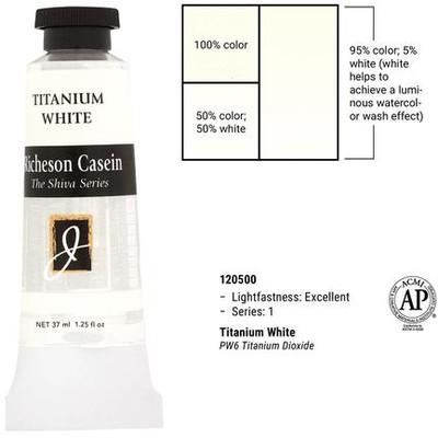 Richeson Casein, Titanium White (1.25oz)