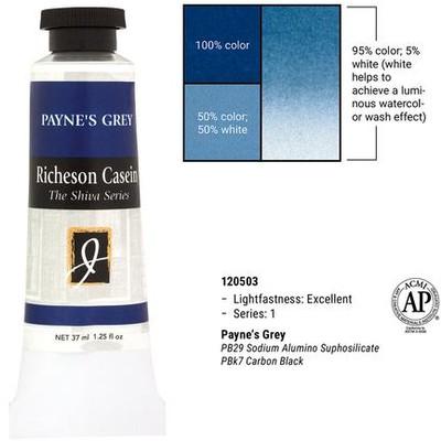 Richeson Casein, Payne's Gray (1.25oz)