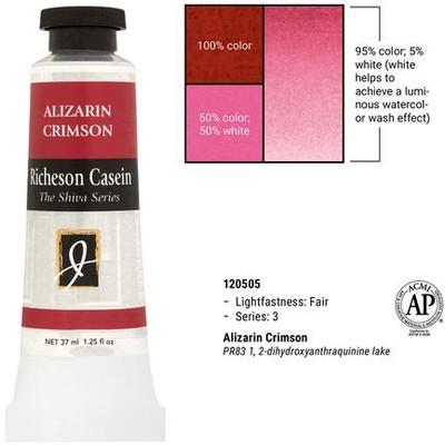 Richeson Casein, Alizarin Crimson (1.25oz)